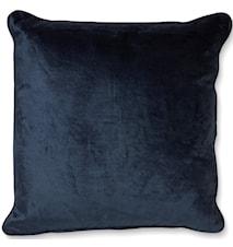Putetrekk 50x50 Velvet/Linen Twilight Blue