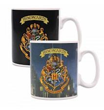 Harry Potter Hogwarts Lämpöön reagoiva Muki