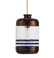 Pillar transparent tagpendel – Transparent, copper