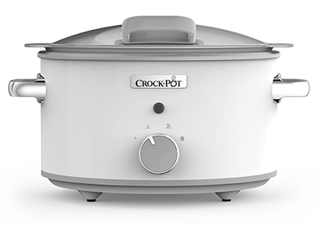 Crock-Pot Slowcooker 4,5 L DuraCeramic Manuell hvit