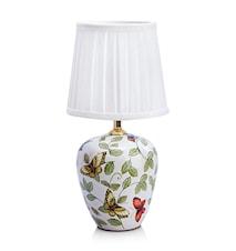 Mansion Bordlampe 1L Små Mønster/Hvit