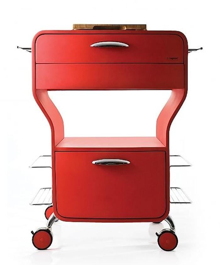 Trix Kitchencart deep red