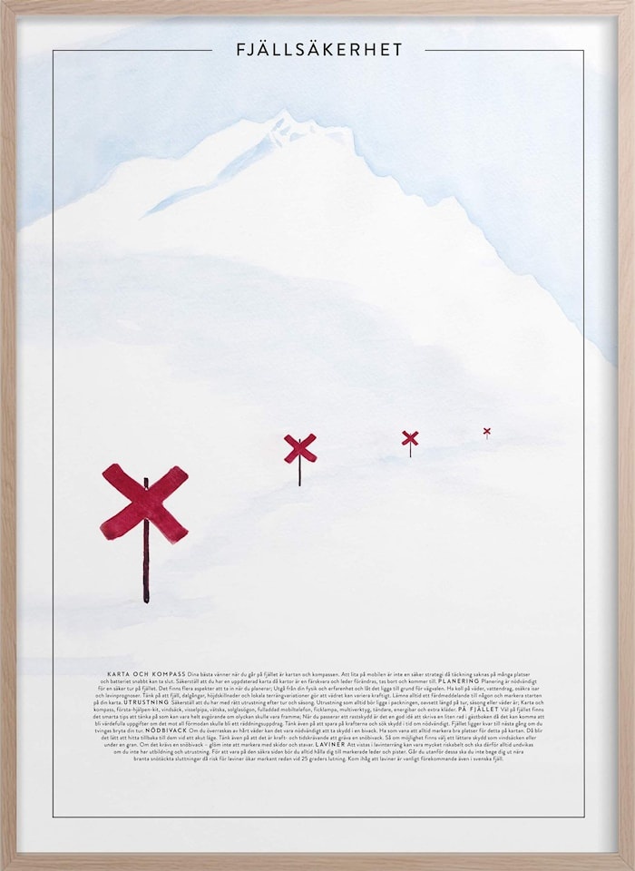 Fjällsäkerhet Poster 30x40 cm