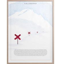 Fjällsäkerhet Poster30x40 cm