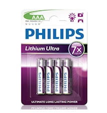 Fashion Ultra Lithium AAA FR03 4-pakning