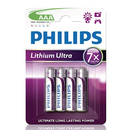 Fashion Ultra Lithium AAA FR03 4-pack
