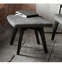 Knit footstool pall - Svart