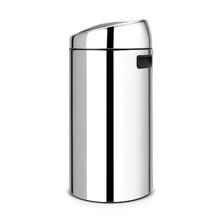 Touch Bin, plastinderspand 45 L Blankbørstet Stål