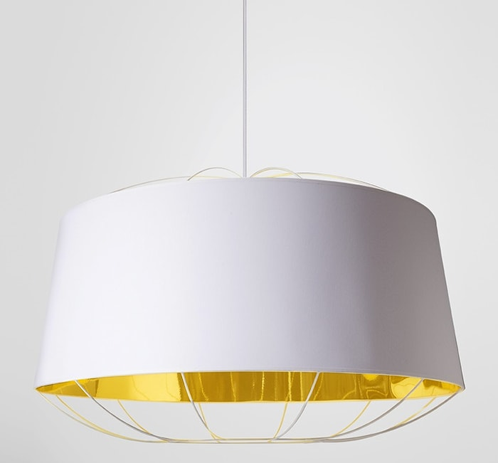 Lanterna Large Taklampe - Hvit/gull