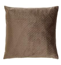 Tyynynpäällinen samettia 45x45 cm - Ruskea