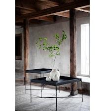 Bakkebord i Metal Sort 70x70 cm