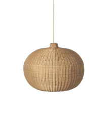 Braided Lampshade - Belly - Natural