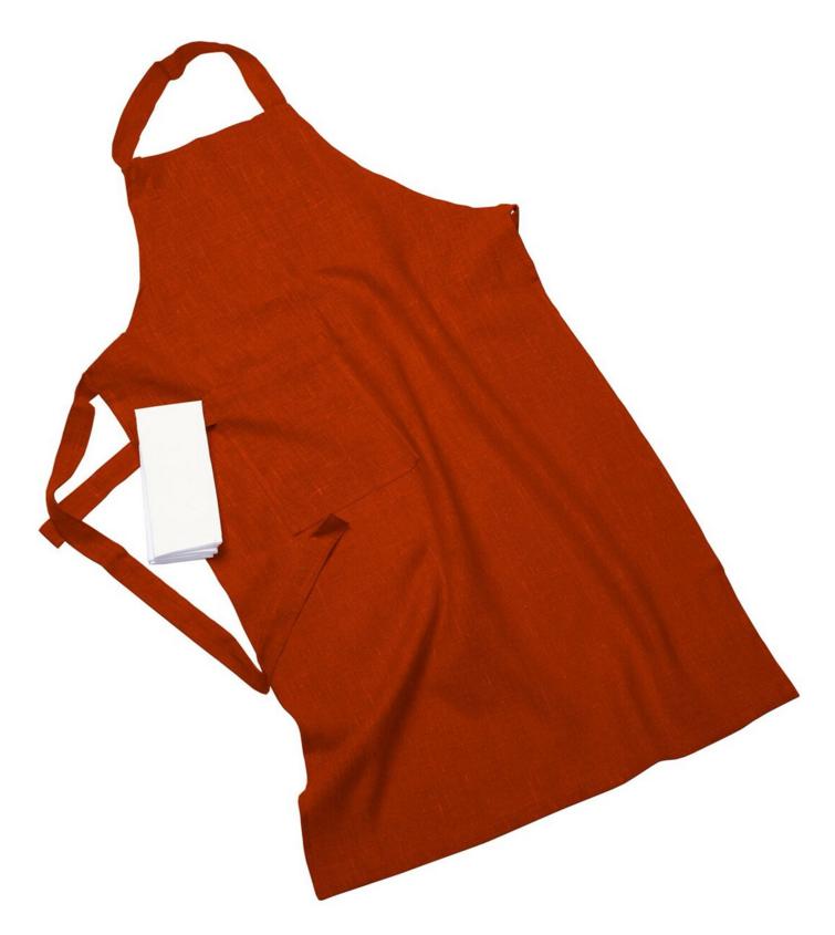 Erik classic lång förkläde – Med handduk russet