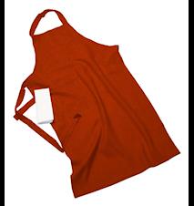 Erik classic lång förkläde – Med handduk, russet