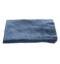 Lovely linen putetrekk – Denim blue, 40x80
