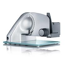 Vivo Påleggsmaskin med Glassbunn og Taggete Knivblad