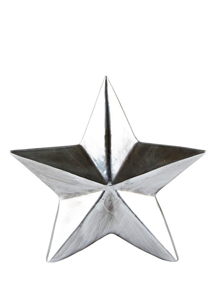 Stjärna Keramik Silver 14x15cm