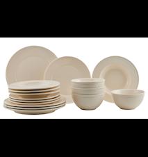 Fålhagen Porcelænssæt Sand – 16 dele