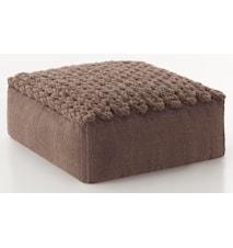 Trenzas puff 70x70x35 - brun