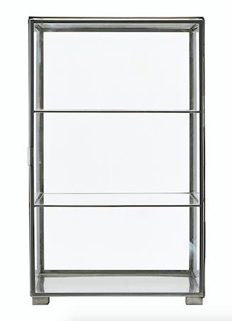 Kabinett Glas/stål 56,6x35x35 cm