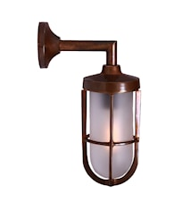 Cladach vägglampa - Antique brass, frosted glass