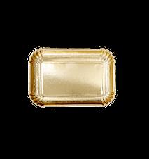 Papperstallrikar 6-pack 16.5x24 cm Guld