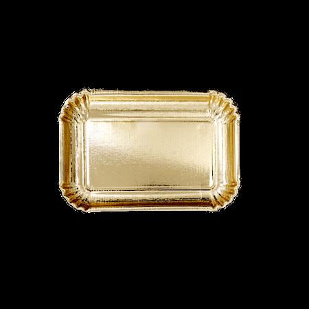 Papperstallrikar 6-pack 16.5×24 cm Guld