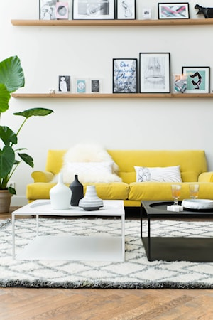 Sofabord Hvit Metall