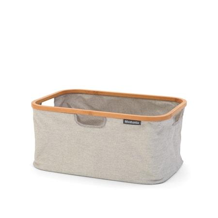 Tvättkorg ihopfällbar med bamburam 40 L Grå
