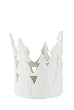 Värmeljushållare Vit Porslin 7,5x9,5cm
