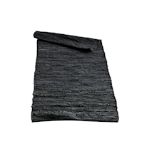 Matta Black 70x155 cm Läder