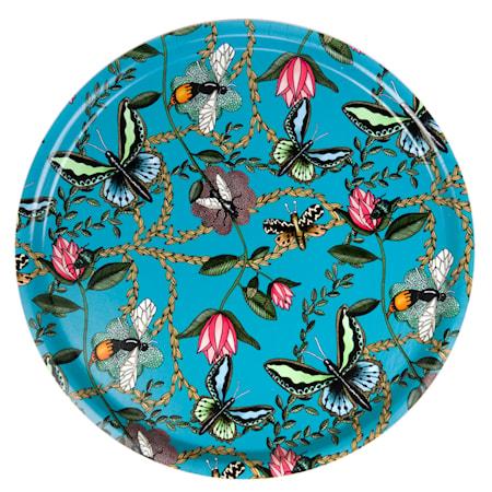 Nadja Wedin Design Bricka 65 cm Bugs & Butterflies Turkos
