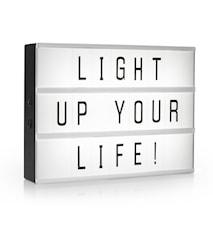 LED Light box A3 med 85 tecken
