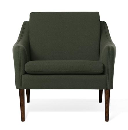 Mr. Olsen Lounge Chair Dark Green Valnöt