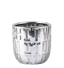 Kruka Keramik Silver 10cm