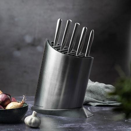 Knivblock 9 knivar Rostfritt Stål