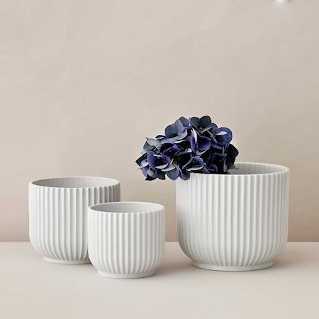 Potteskjuler lille Porcelæn Hvid
