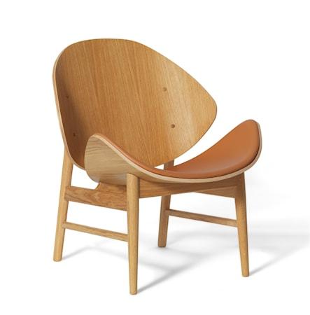 The Orange Lounge Chair S Cognac Vitoljad Ek