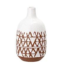 Vase, Hvid, Stentøj
