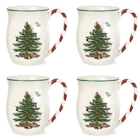 Christmas Tree Mugg Peppermint Handtag 4-p 0.4L