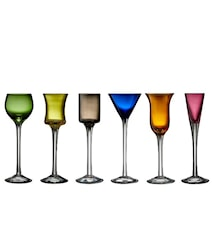 Snapseglas blandede farver 6 stk.