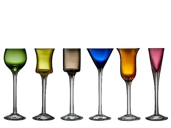 Dramglass blandede farger 6 stk.