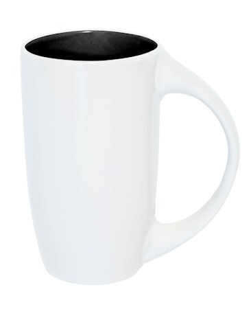 Mugg Diana vit/svart