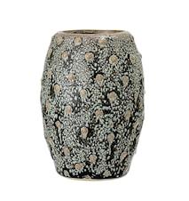 Vase grès gris texturé Ø 6,5 x 9 cm
