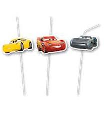 Disney Cars 3 Sugrör, 6 st