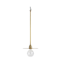 Taklampa LP Ø 27x70cm Mässing