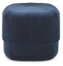 Circus pouf sittepuff velour small - Dark blue