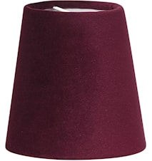 Lampeskjerm Queen Fløyel Vinrød