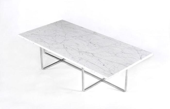 Ninety Table XL - Carrara marmor/rostfritt stål H40 cm