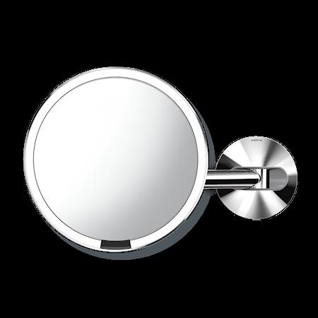 Väggmonterad Sensor Spegel Polerat Rostfritt Stål 20 cm